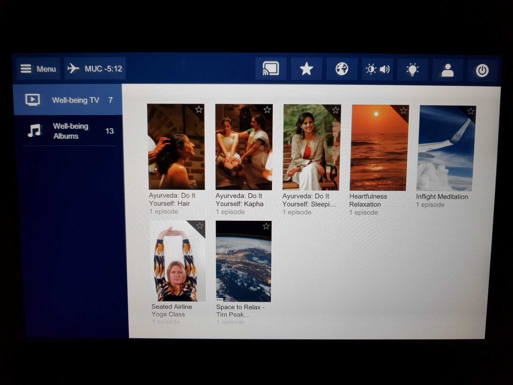 Lufthansa premium economy - entertainment system 14