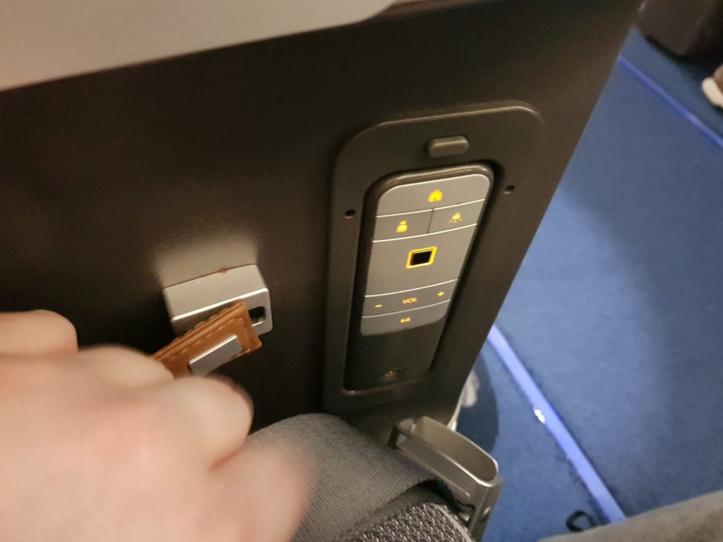 Lufthansa premium economy - entertainment system pilot