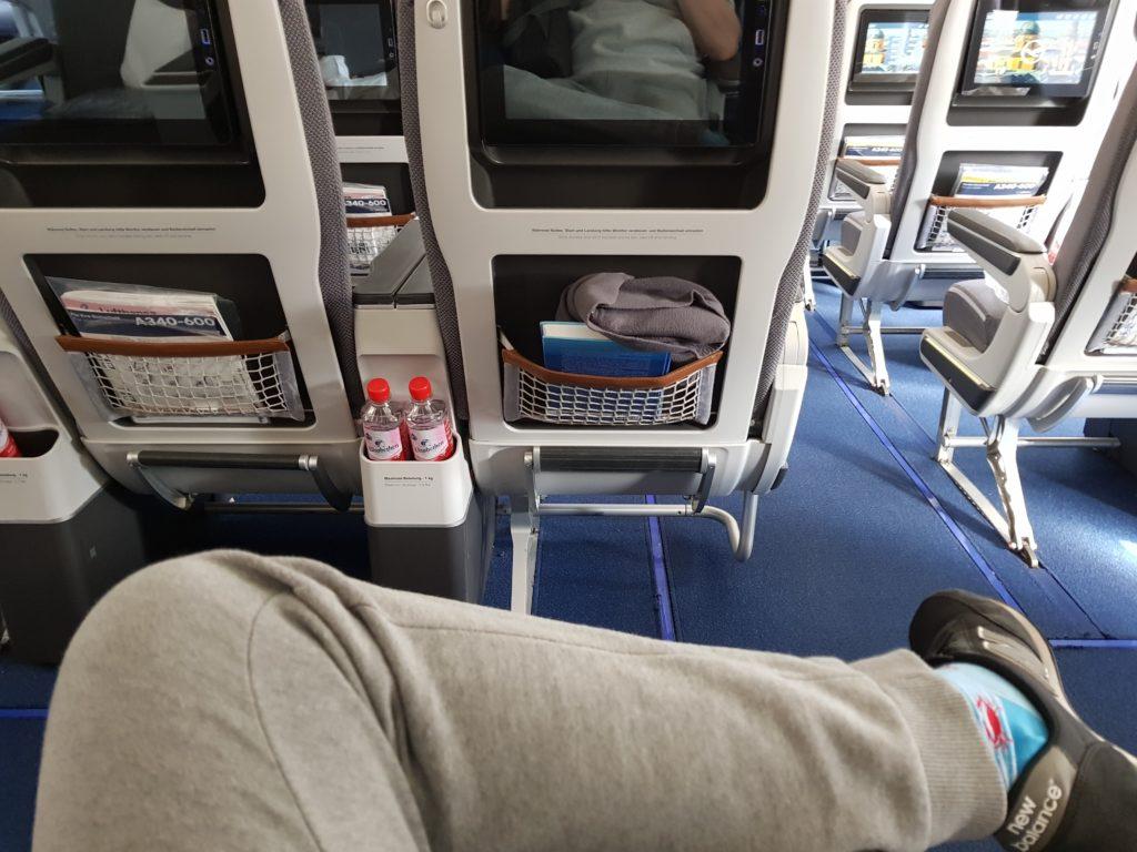 Lufthansa premium economy - legroom 26G