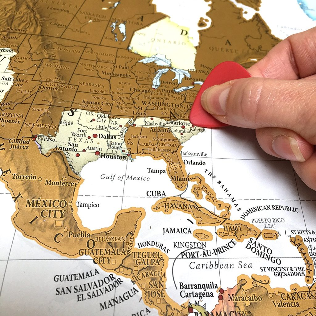 best gifts for travelers - Scratch Map