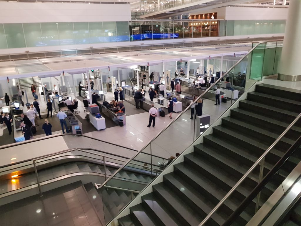 business travel tips - security check