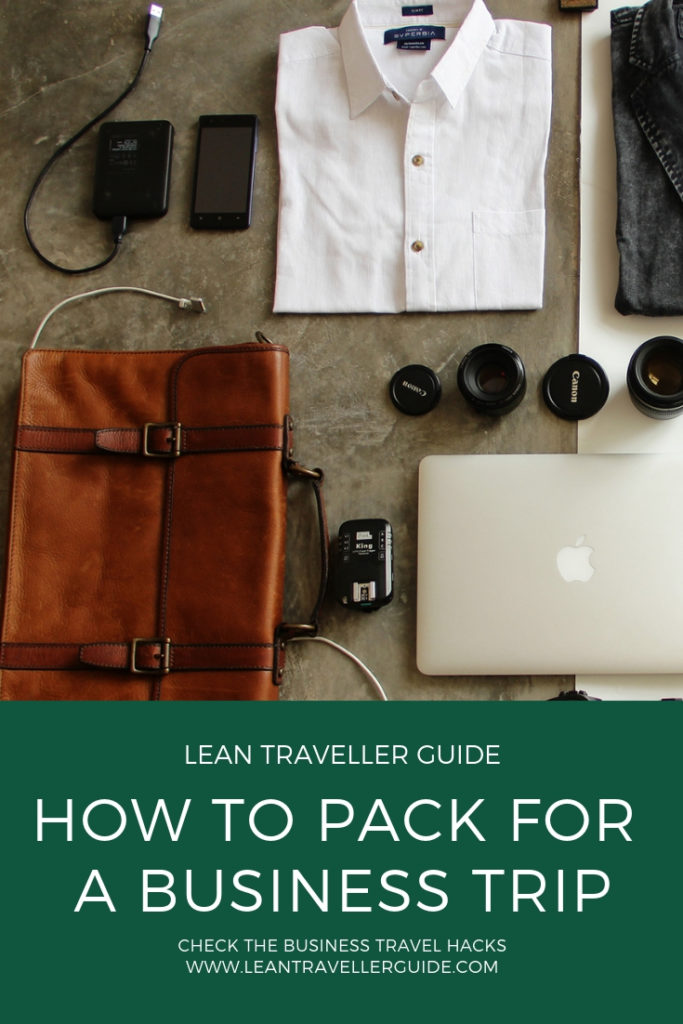 How to pack for a business trip - pintrest