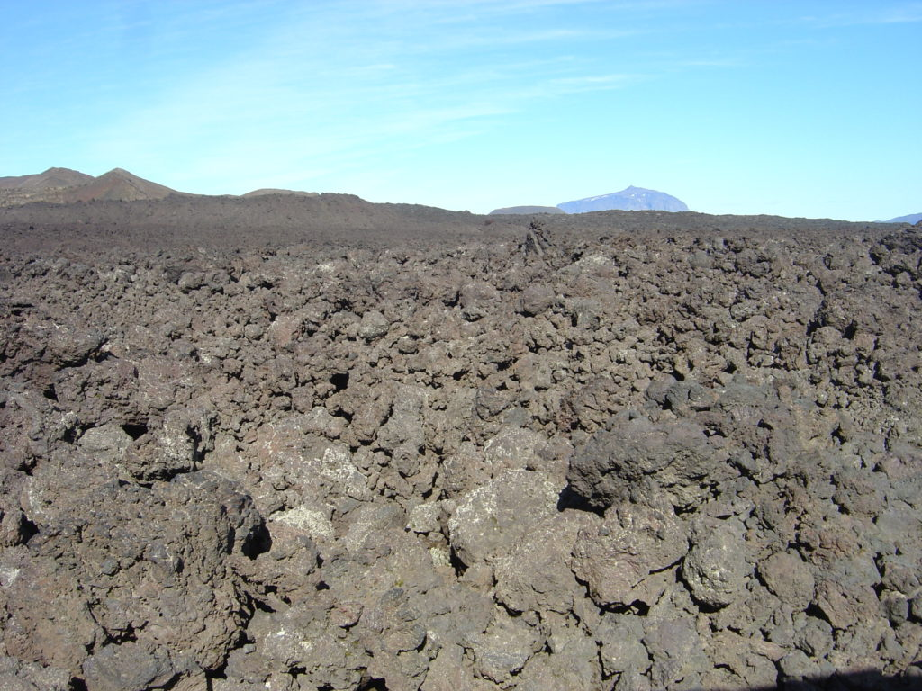 Interior - lava rocks