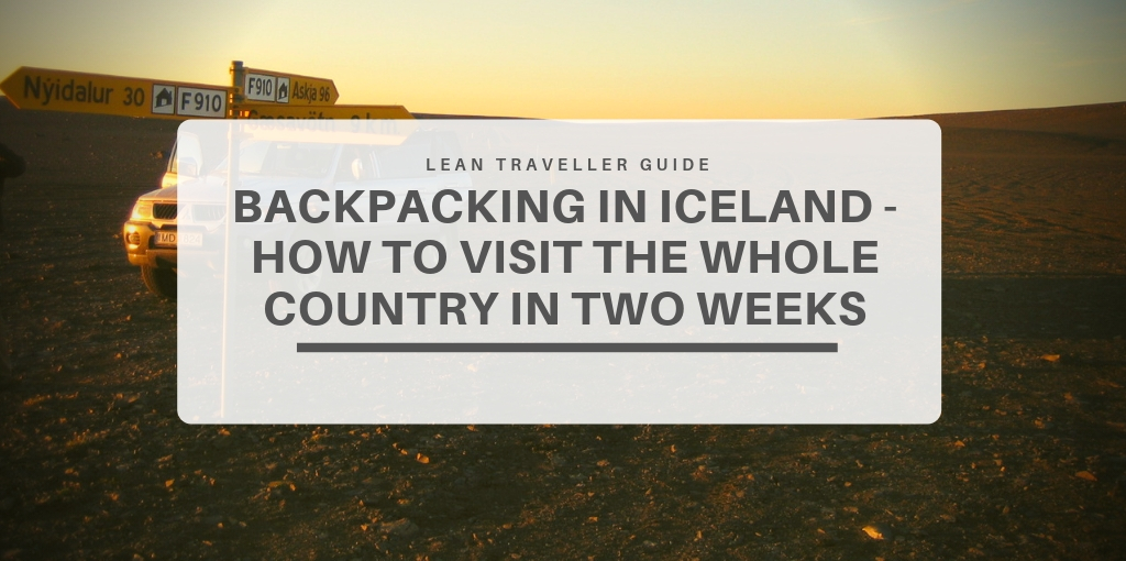 Backpacking in Iceland - featured image