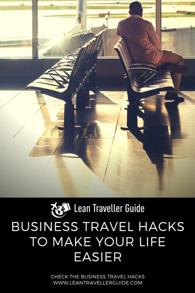Business Travel Hacks To Make Your Life Easier - Pintrest graphics