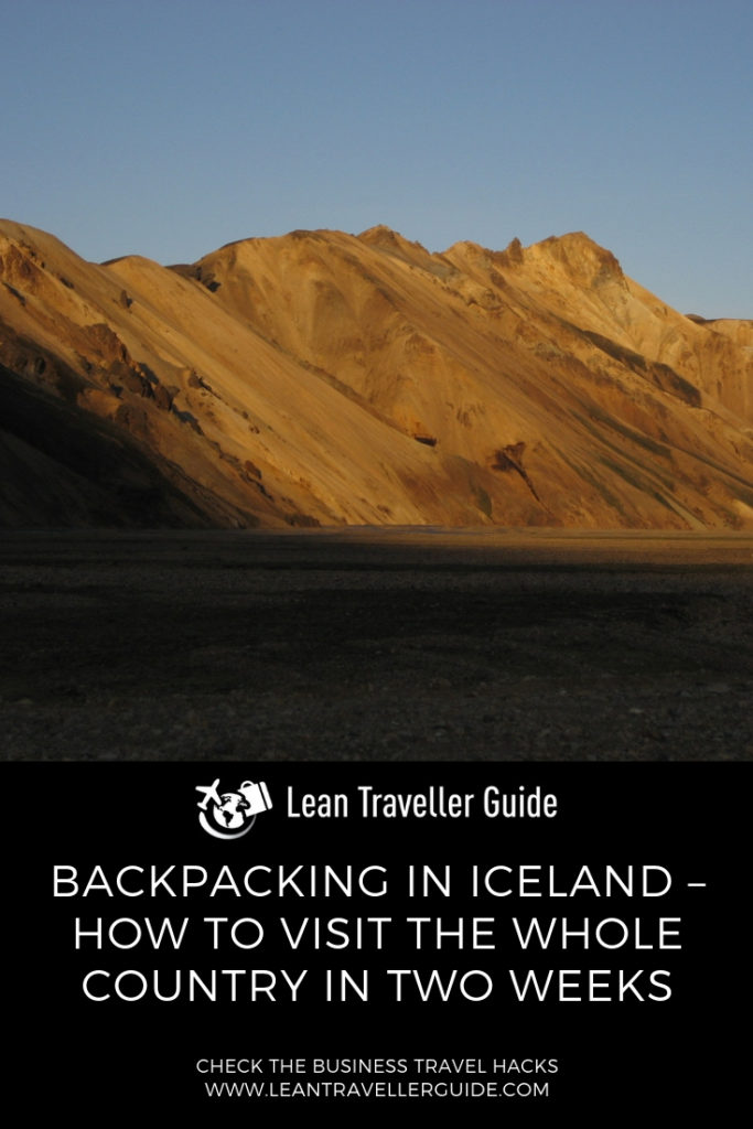 Backpacking in Iceland – How to Visit the Whole Country in Two Weeks - Pinterest