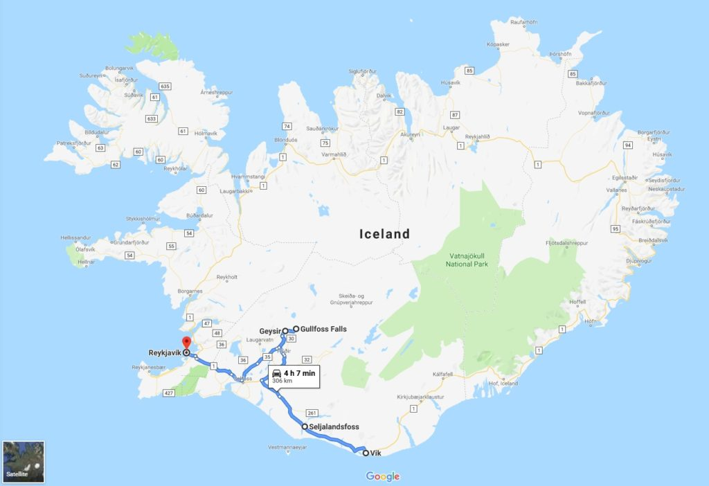Backpacking in Iceland - Day 10 map