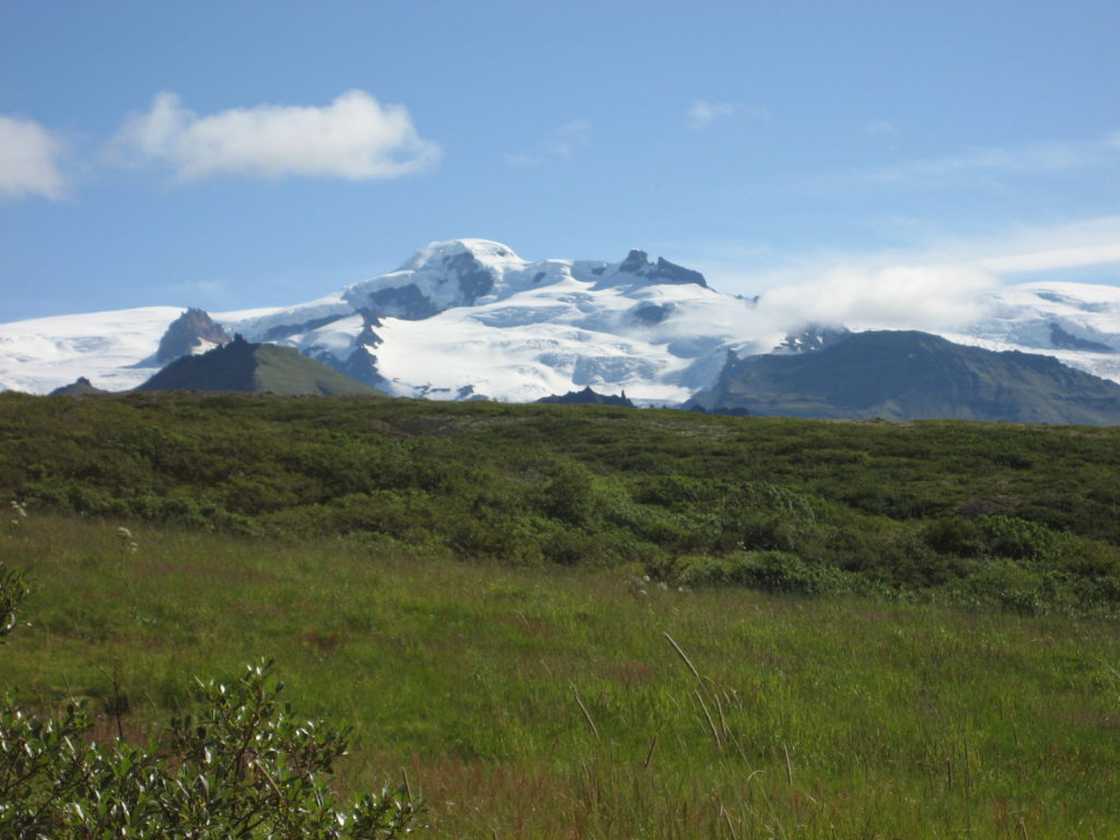 Vatnajokull glacier from the distance