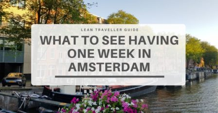 One Week in Amsterdam - featured picture