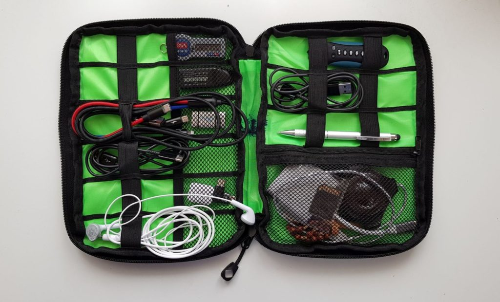 Small Travel Electronics Cable Organizer