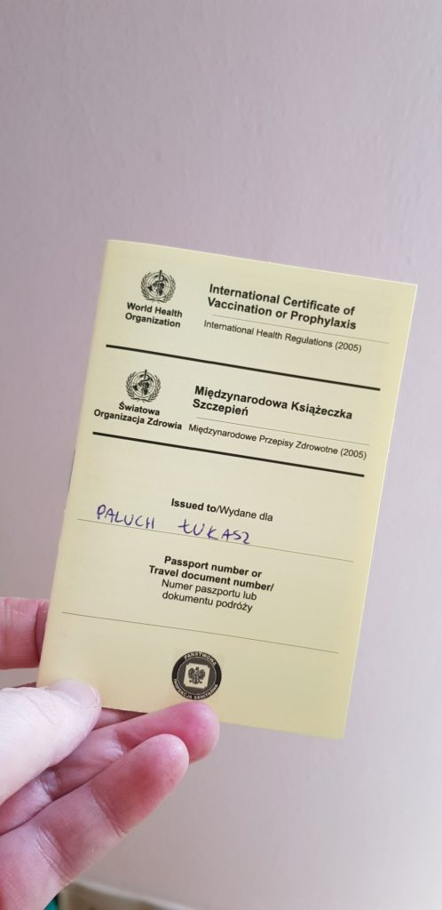 Vaccination for Travellers - Yellow Vaccination Book