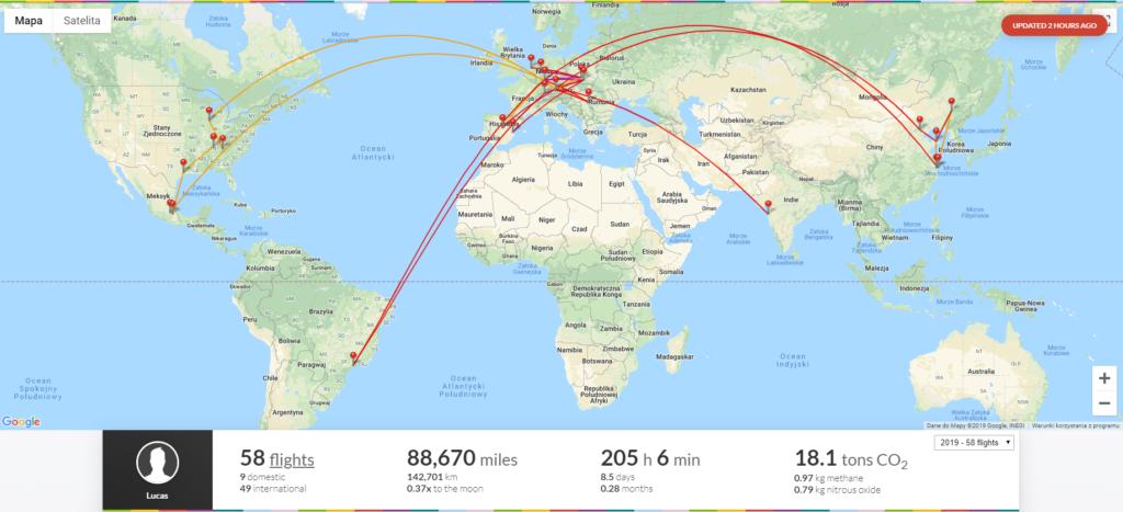 Frequent Flyer Tools - Flightradar24 flights log